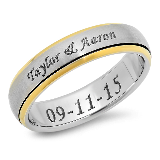 Personalized Spinner Ring Sale