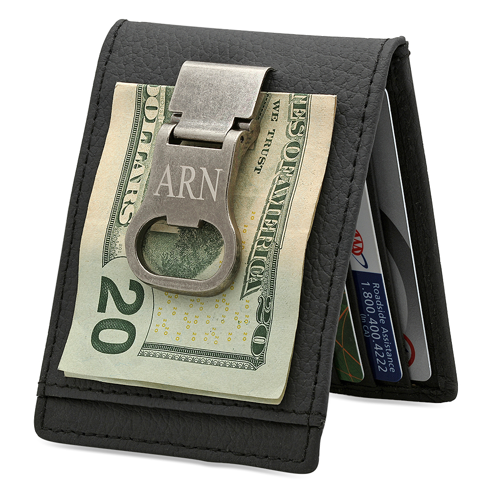 Personalized Leather Wallet / Money Clip / Bottle Opener ...