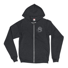 Tagged Left Chest Zipped Hoodie