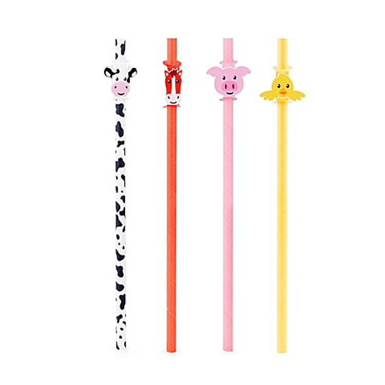 Super Cute Farm Animal Straws for your little ones to enjoy drinks in a fun colorful way.