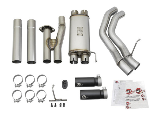 """aFe POWER 49-43091-B Rebel Series 3""""409 Stainless Steel Cat-Back Exhaust System"""