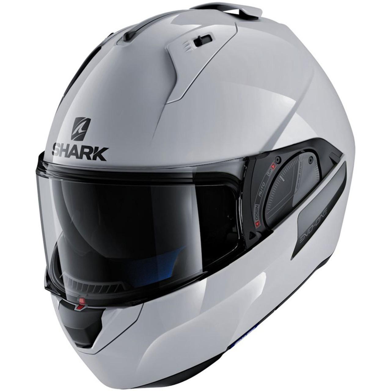shark evo one 2 modular helmet gloss white he9700dwhum get lowered cycles. Black Bedroom Furniture Sets. Home Design Ideas
