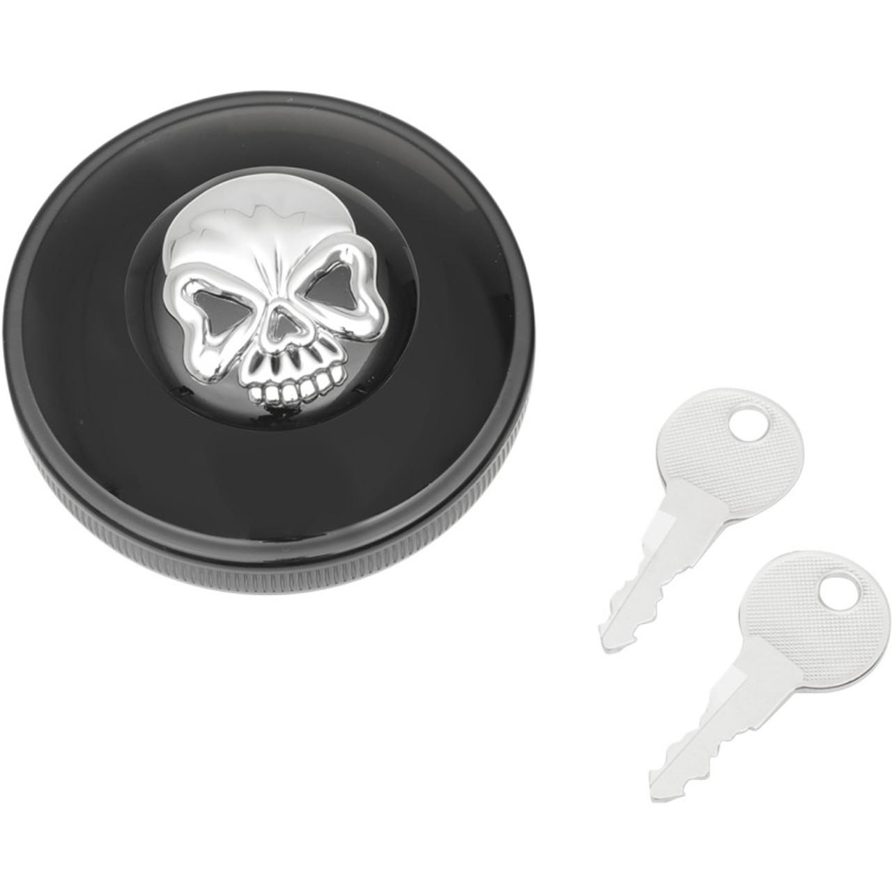 Specialties: Drag Specialties Screw-In Locking Skull Gas Caps For