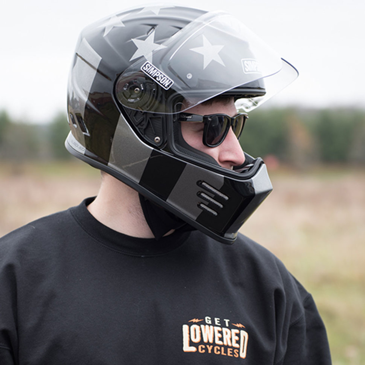 Full Motorcycle Helmet >> Simpson Ghost Bandit Subdued Motorcycle Helmet - Get Lowered Cycles