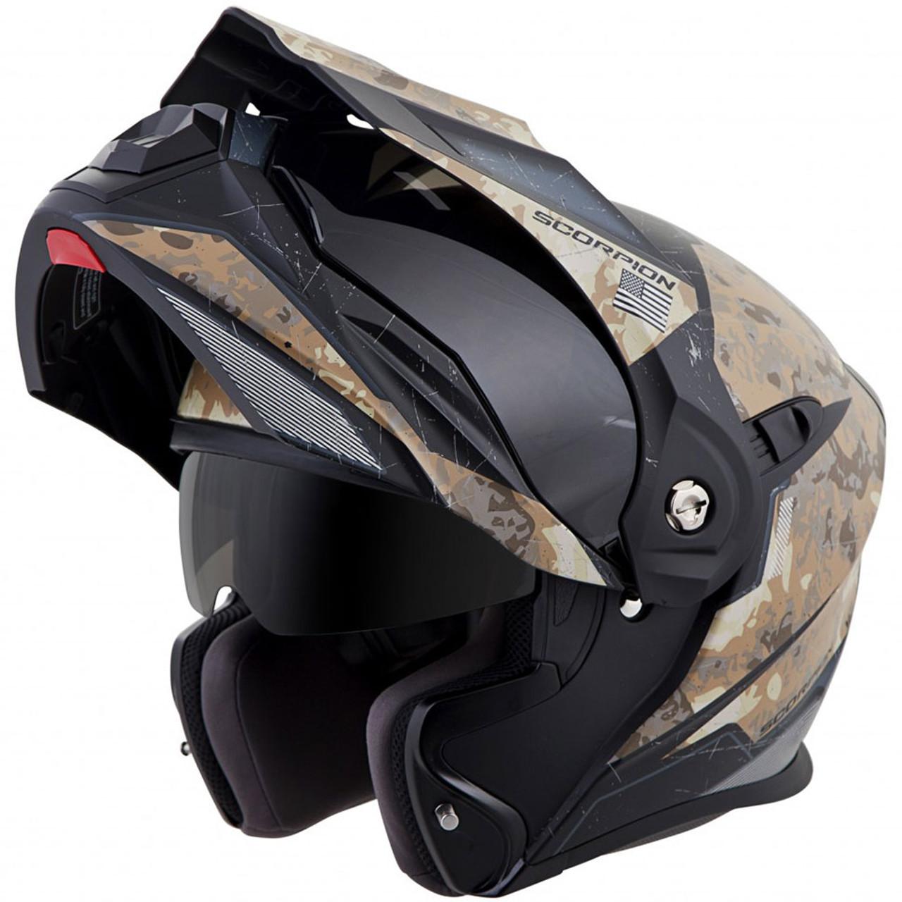 scorpion exo at950 battleflage modular motorcycle helmet. Black Bedroom Furniture Sets. Home Design Ideas