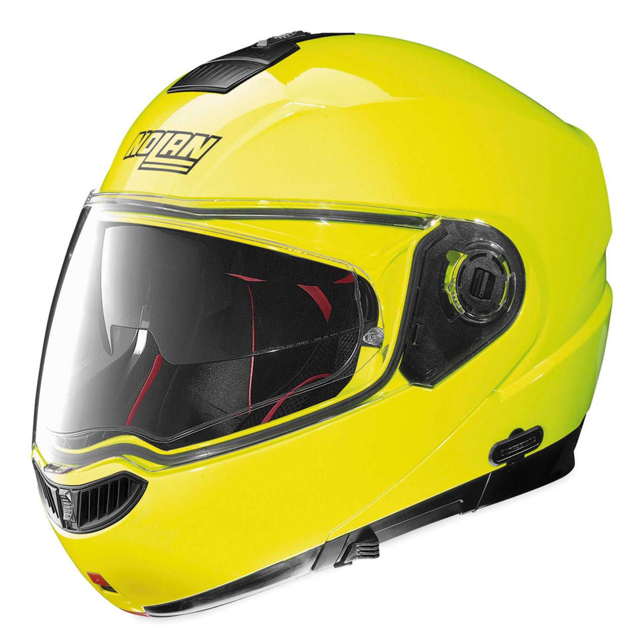 nolan n104 absolute hi vis yellow helmet get lowered cycles. Black Bedroom Furniture Sets. Home Design Ideas
