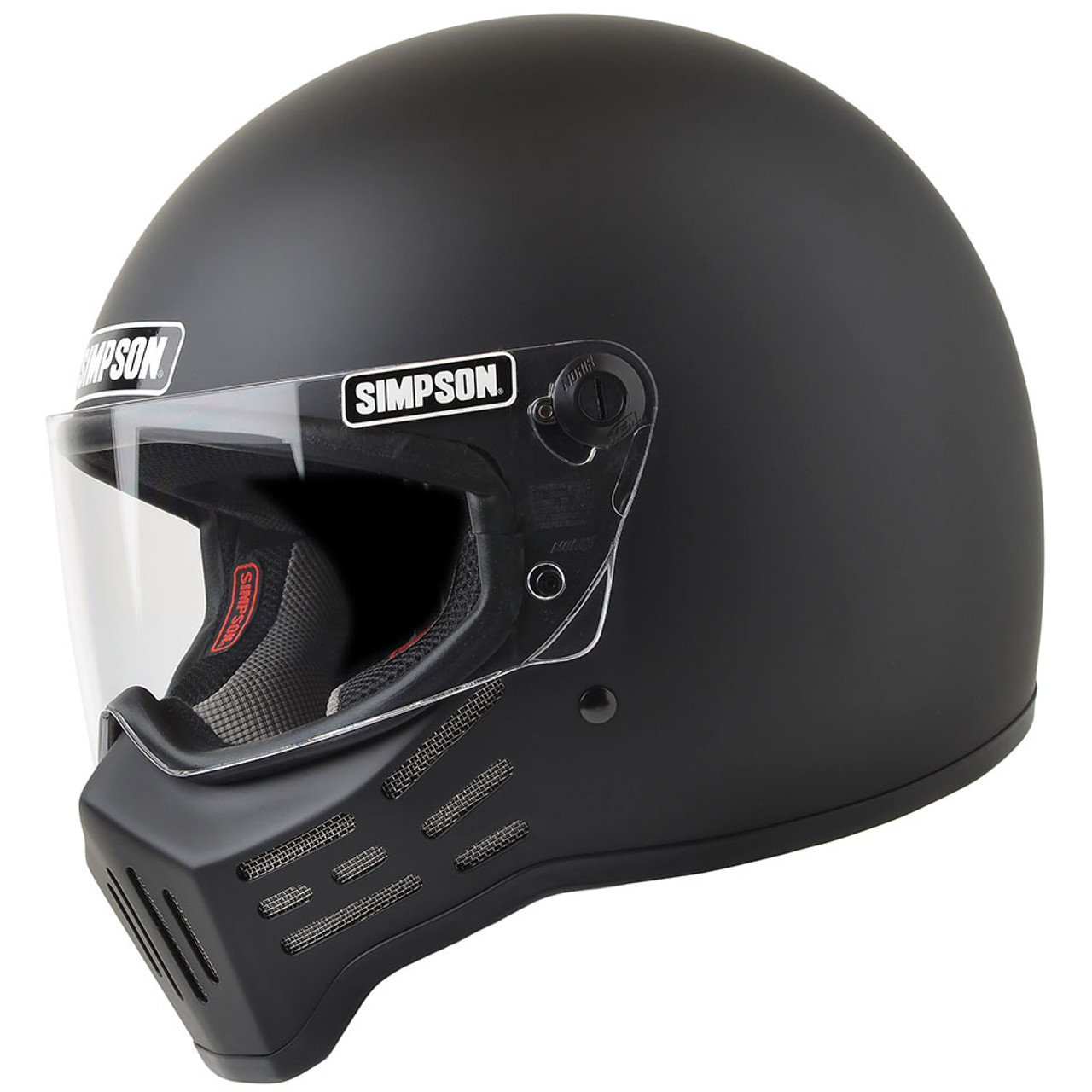 simpson m30 motorcycle helmet matte black get lowered cycles