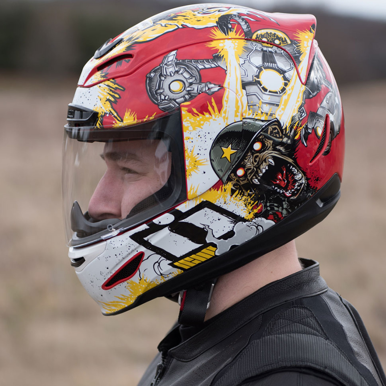 Icon Airmada Monkey Business Helmet Get Lowered Cycles