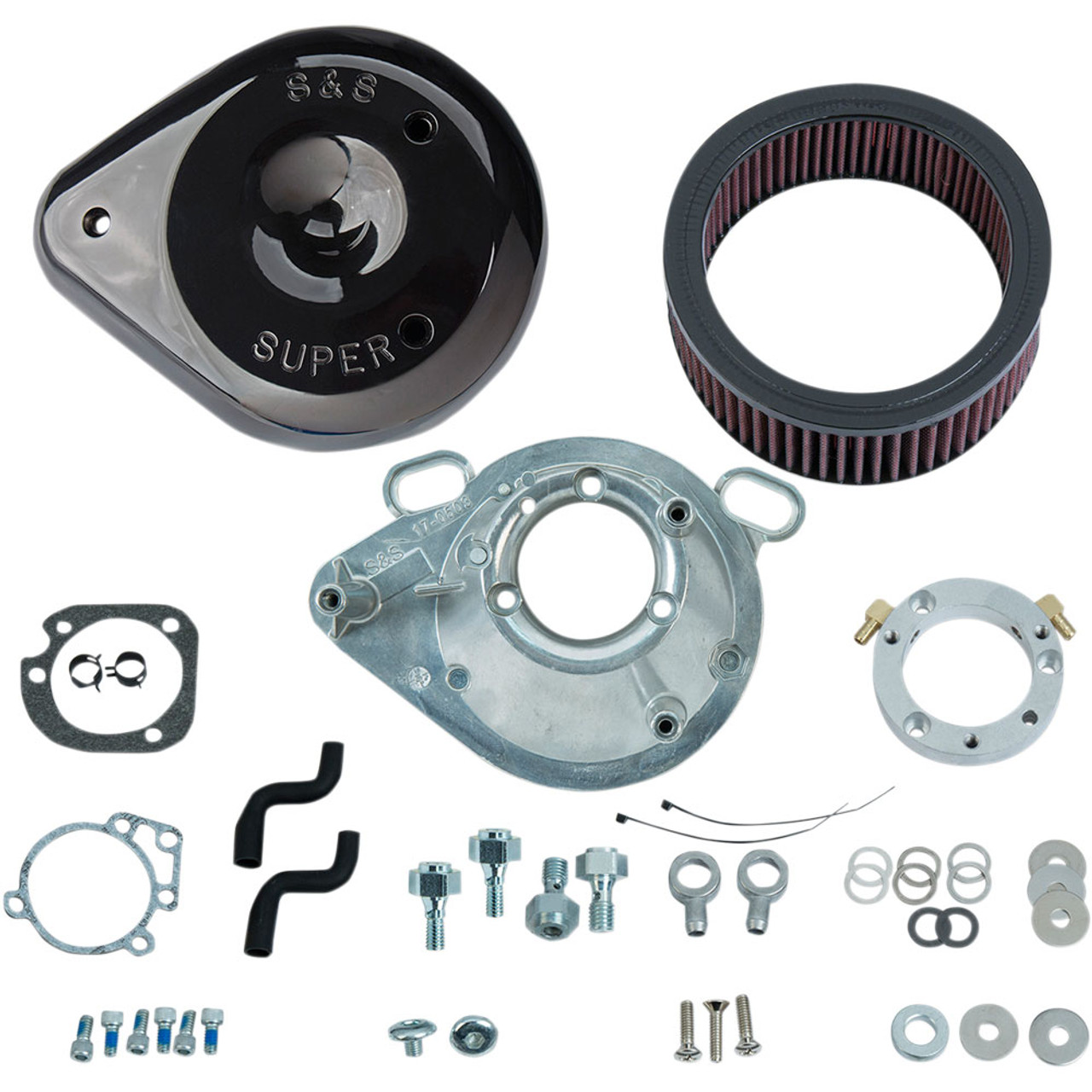 S&S Teardrop Air Cleaner Kit for 2001-2017 Harley Stock EFI Big Twin ...
