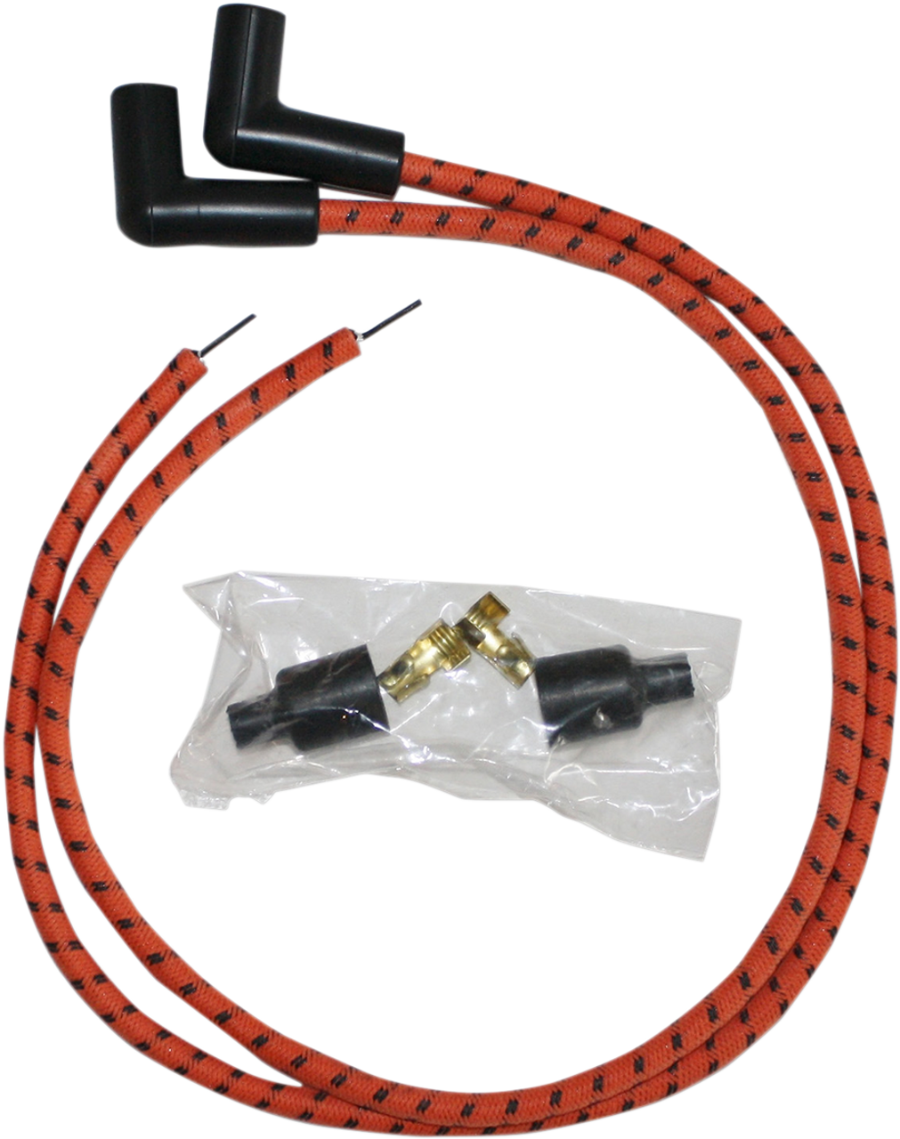 Sumax 8mm Universal Spark Plug Wire Kit for Harley - Orange with ...