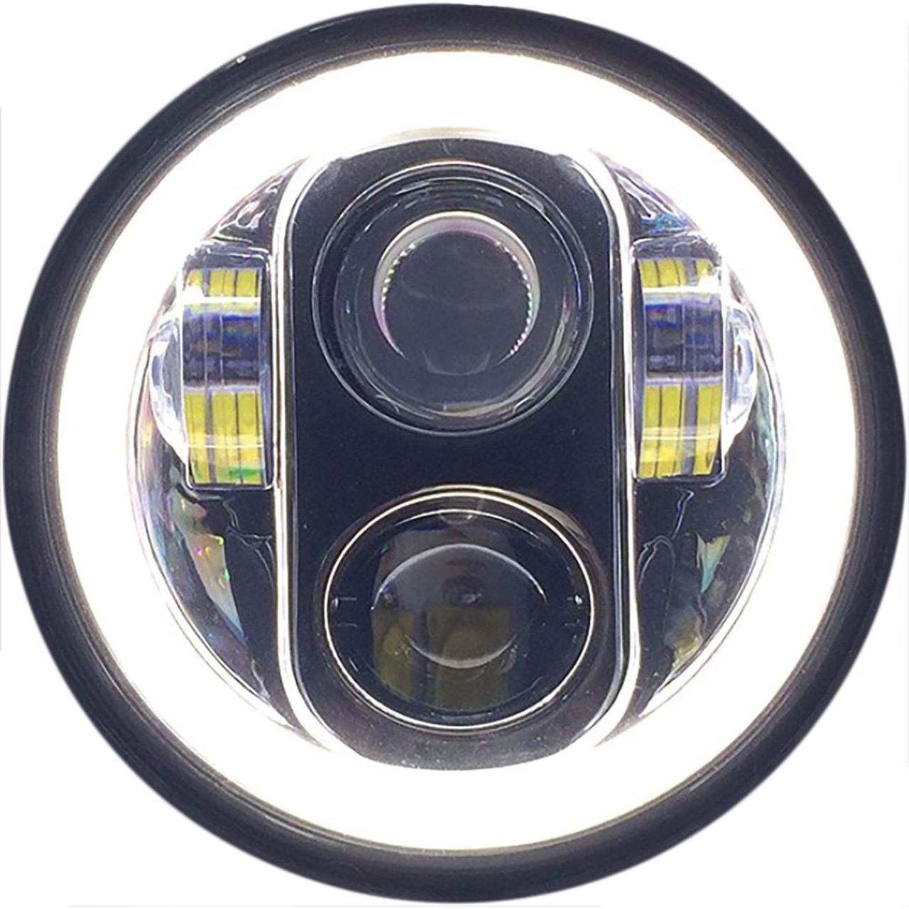 Pathfinder 5 3 4 Quot Led Headlight With Full Halo Black