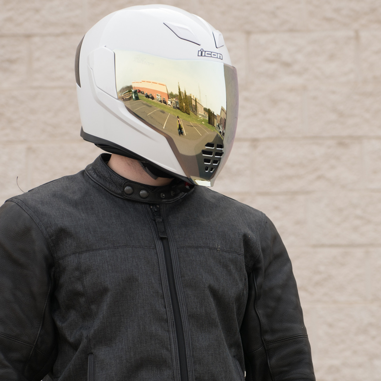 Best Motorcycle Armor >> Icon Airflite RST Gold Motorcycle Face Shield - 0130-0781 - Get Lowered Cycles