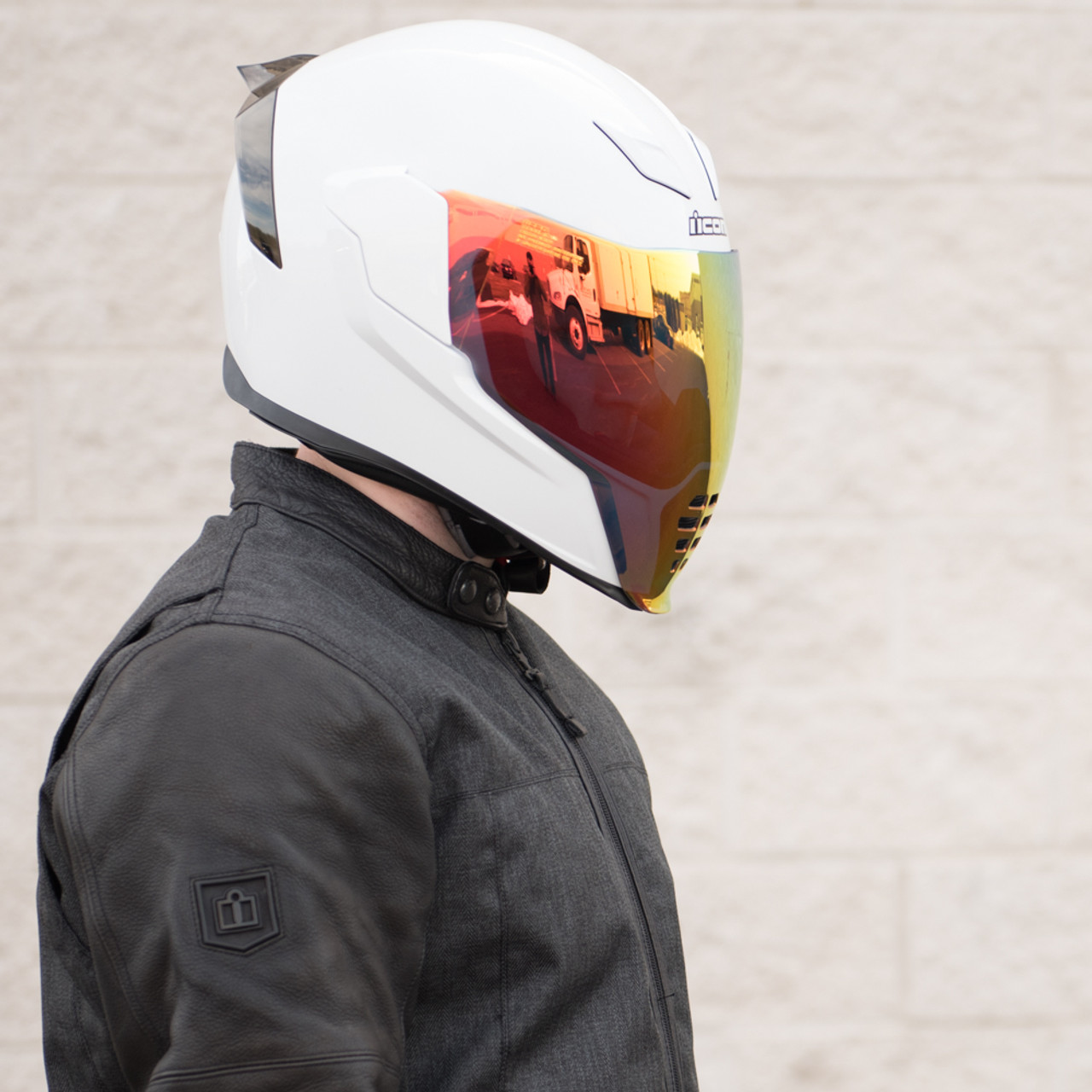 Icon Airflite RST Red Motorcycle Face Shield