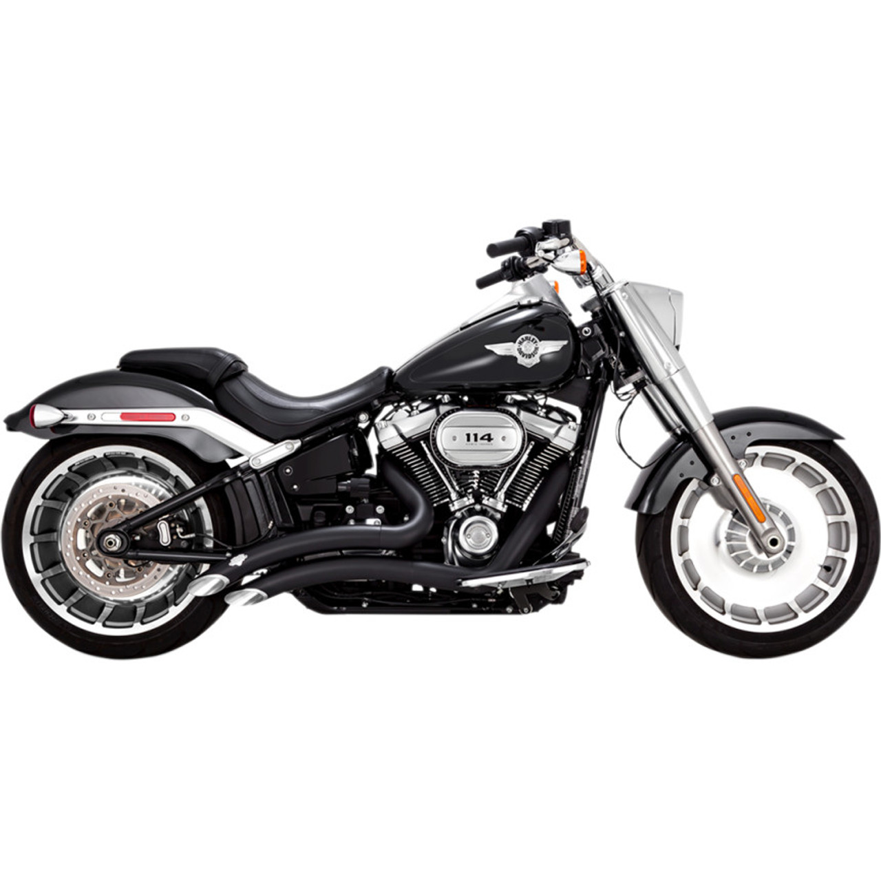 vance hines big radius exhaust for 2018 harley softail. Black Bedroom Furniture Sets. Home Design Ideas
