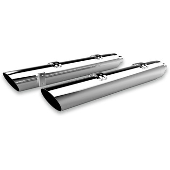 """Khrome Werks 4"""" HP-Plus Chrome Performance Slant Down Exhaust Mufflers for Indian"""