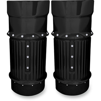 Covingtons Dimpled Fork Bellows Slider Covers for 2014-2015 Harley Touring