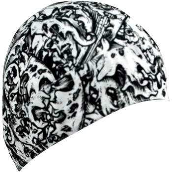 Zan Headgear Black and White Ornate Flydanna Headwrap