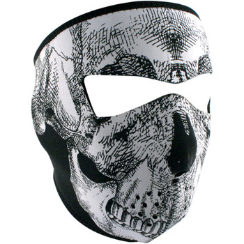 Zan Headgear Black & White Skull Face Mask