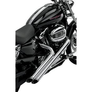 Vance & Hines Chrome Sideshots Exhaust for 04-13 Sportster
