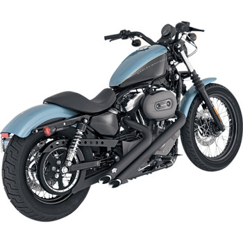 Vance & Hines Black Sideshots Exhaust for 04-13 Sportster