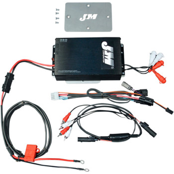 J&M Performance Series 360W RMS 4-Channel Amp Kit for 2015 Harley Road Glide