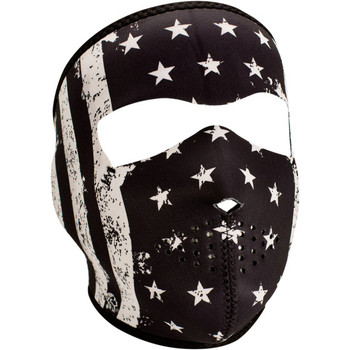 Zan Headgear Black and White Vintage Flag Face Mask