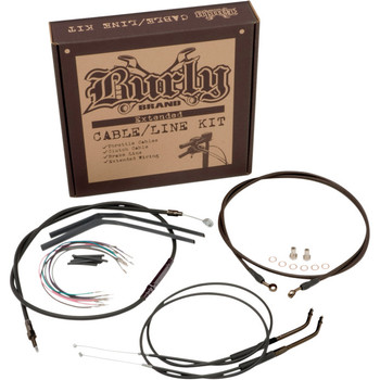 Burly Black Vinyl Cable and Brake Line Kit for Dyna