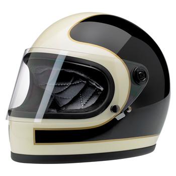 Biltwell Gringo S Helmet - Limited Edition Tracker Black/Vintage White