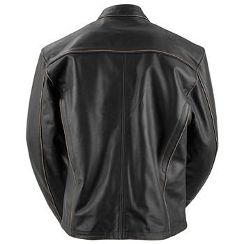 Black Brand Compression Leather Jacket