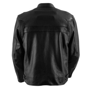 Black Brand Fahrenheit KoolTek Perforated Leather Jacket