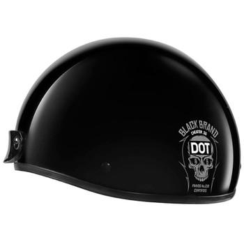 Black Brand Cheater .50 Half Helmet
