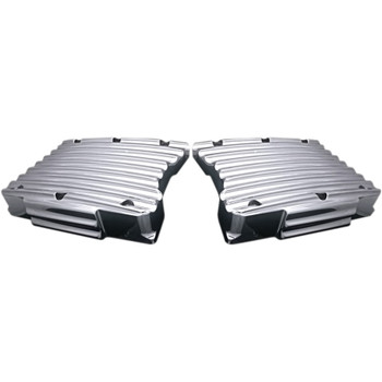 Covingtons Finned Rocker Box Top Covers for Harley Twin Cam - Chrome