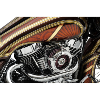 Covingtons Panhead-Style Finned Valve Covers for Harley Twin Cam - Chrome
