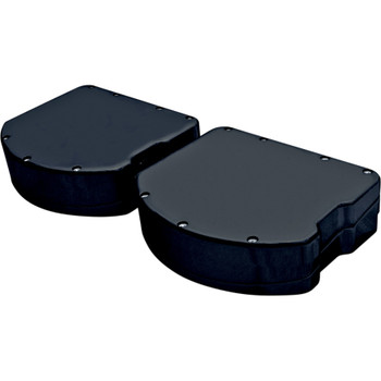 Covingtons Panhead-Style Smooth Valve Covers for Harley Twin Cam - Black