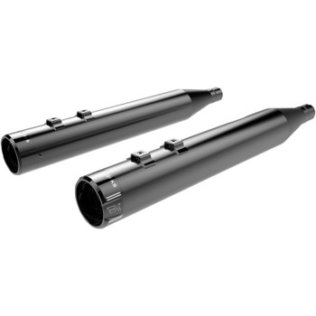 """Khrome Werks 4"""" High-Performance Exhaust Mufflers with Billet Tips for 1995-2016 Harley Touring"""
