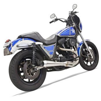 Bassani Road Rage 3 Stainless Exhaust for Harley FXR