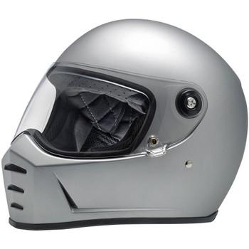 Biltwell Lane Splitter Helmet - Flat Silver
