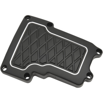 Eddie Trotta Platinum Cut Transmission Top Cover for Harley