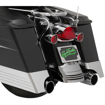 """CycleSmiths Billet 3"""" Saddlebag Extensions with XL Cutouts for 1993-2013 Harley Touring"""
