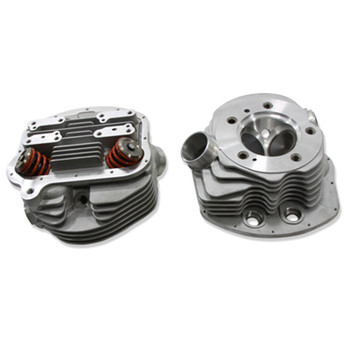 V-Twin Replica Panhead Cylinder Head Set with Valves for 1955-1962 Harley
