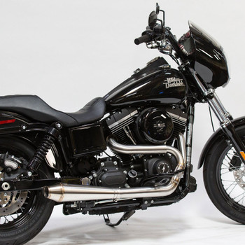 Thrashin Supply OG Stainless Steel 2-Into-1 Exhaust for 1991-2016 Harley Dyna