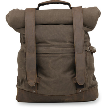 Burly Roll Top Backpack - Dark Oak