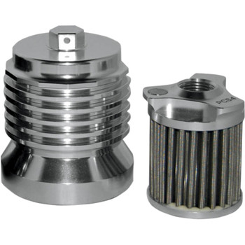 PC Racing Flo Stainless Steel Reusable 'Spin On' Oil Filter for Harley