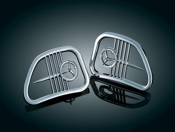 Kuryakyn Chrome Speaker Grills for 98-13 Road Glide
