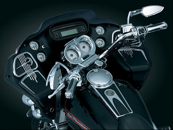 Kuryakyn Chrome Glove Box Accents for 98-13 Road Glide
