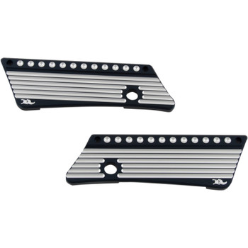 Ken's Factory Saddlebag Latch Covers for 1993-2013 Harley Touring