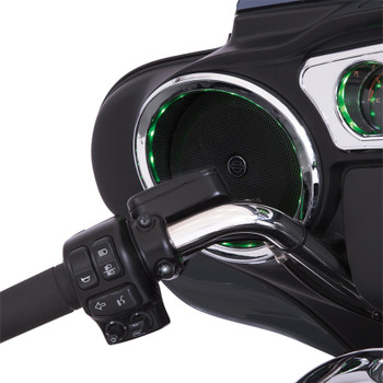 Ciro LED Chrome Front Speaker Accents for 2014-2017 Harley Touring