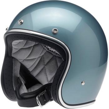 Biltwell Bonanza Helmet - Gloss Blue Steel