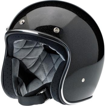 Biltwell Bonanza Helmet - Gloss Black/Gold Flake