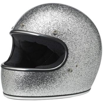 Biltwell Gringo Helmet - Metal Flake Silver